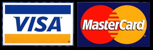Visa Master Card and Paypal